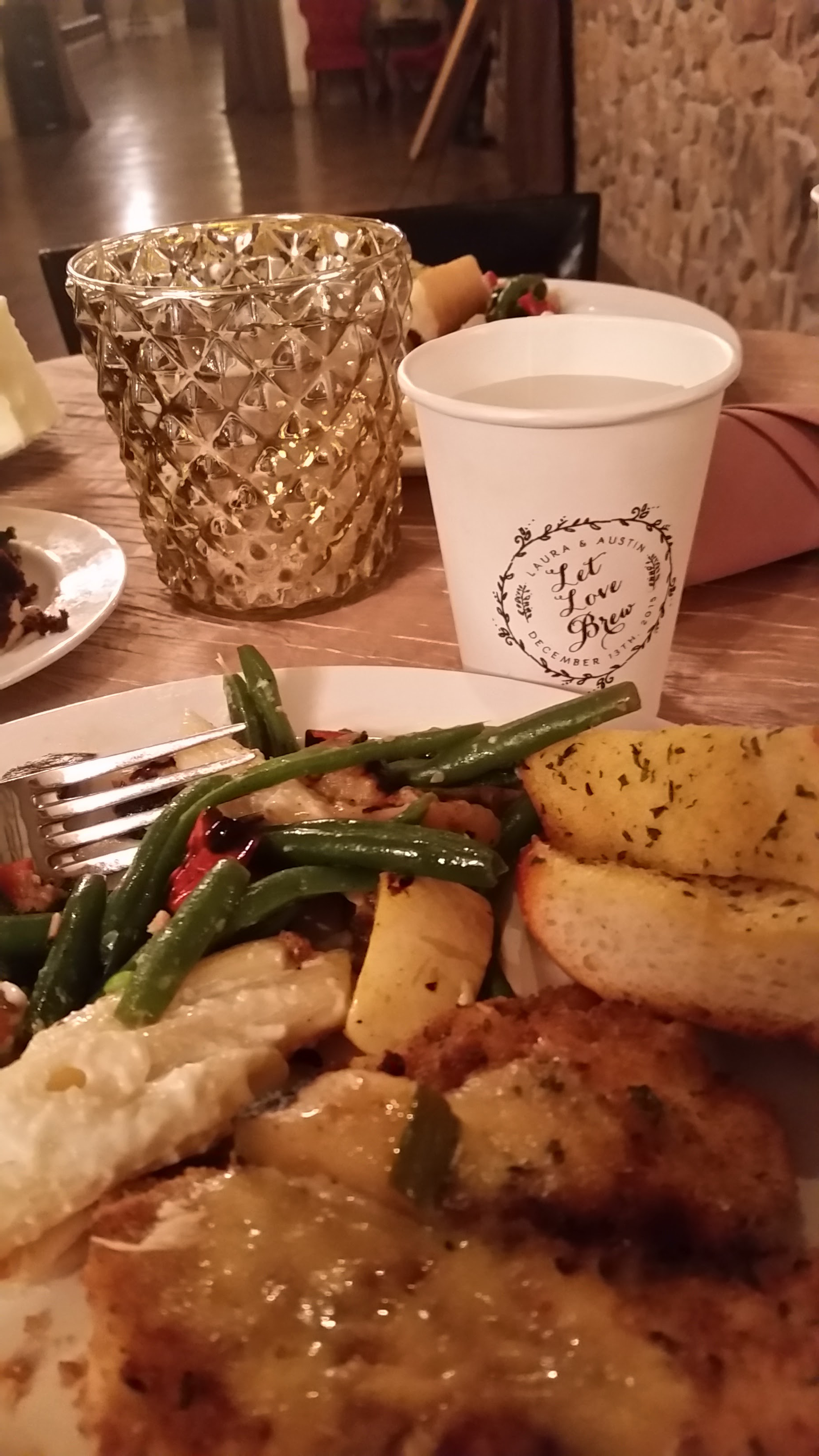 12/13/15 Wedding - Latte & Dinner Plate