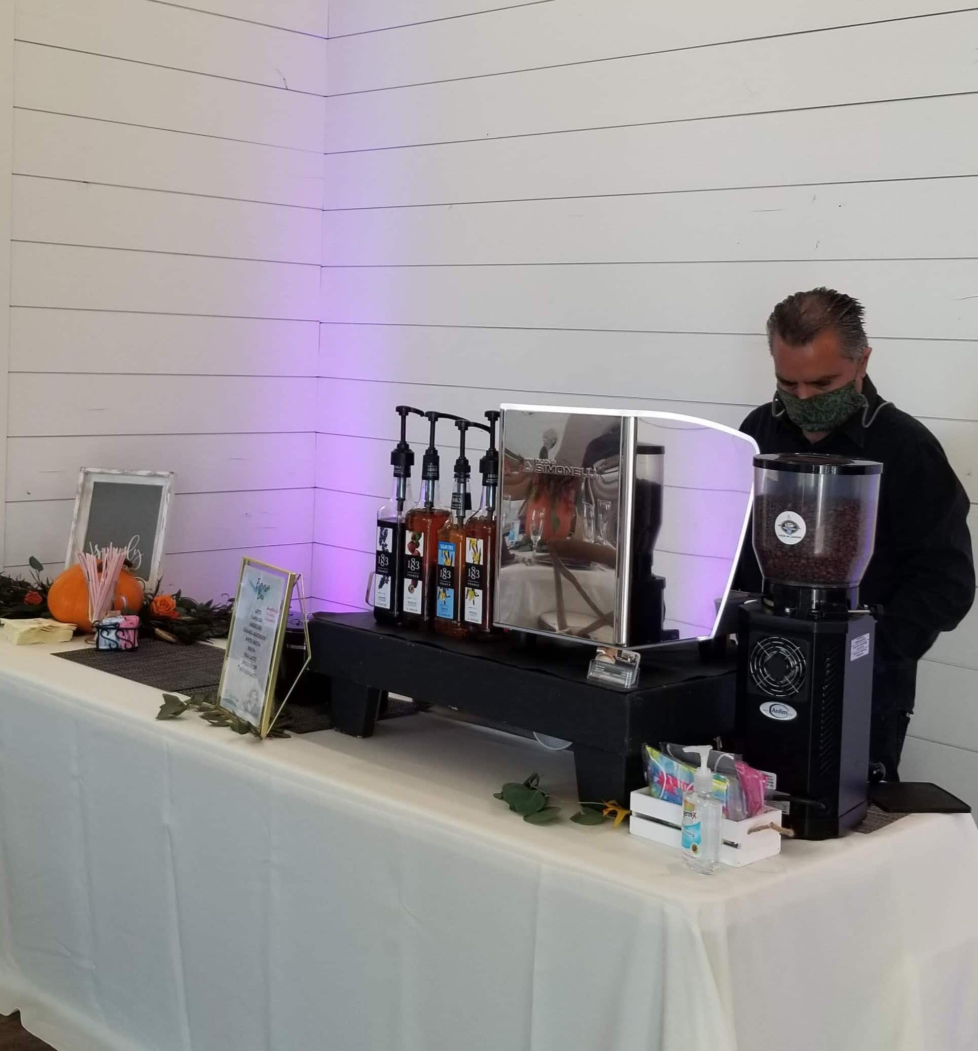 10/11/20 Wedding Coffee Catering Setup | Lattes On Location
